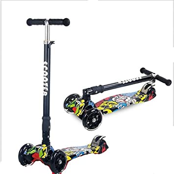 Amazon.com: GAOJIN - Patinete de 3 ruedas, plegable, con ...
