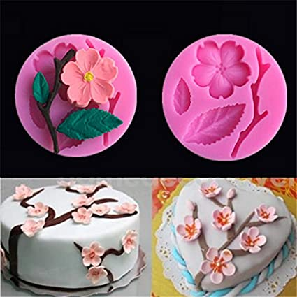 3D Food-grade Silicone Mold Peach Blossom Cake Decorating Tool Chocolate Candy Jello Baking moldes