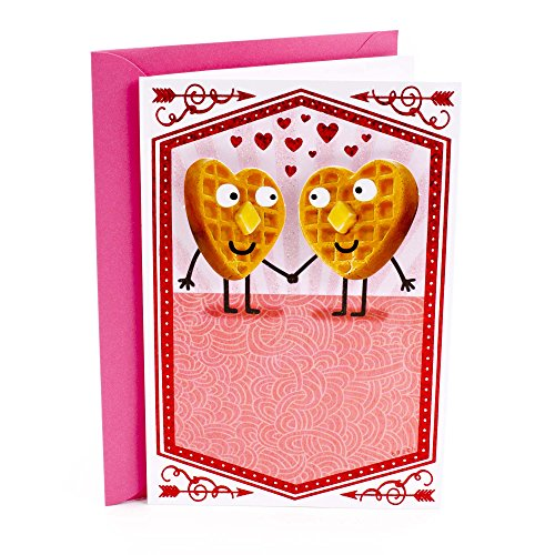 Cards Valentines Hallmark - Hallmark Shoebox Funny Anniversary Card or Love Card for Significant Other (Waffles Joke)