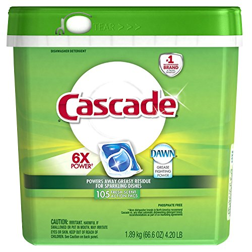 Cascade Actionpacs Dishwasher Detergent, Fresh Scent, 110 Count