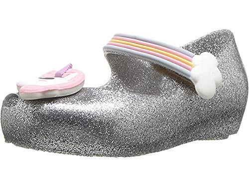 Mini Melissa Baby Girl's Mini Ultragirl Unicorn (Toddler/Little Kid) Silver Glitz 7 M US Toddler M