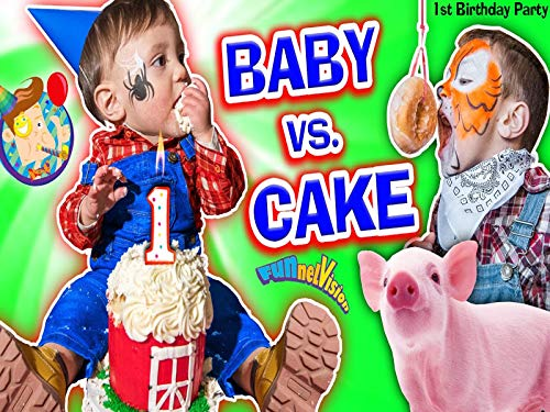 Baby Vs Cake! Shawn's 1st Birthday Party! Family Games And Activities With FUNnel Vision Plus Presents Haul ()