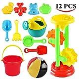 Joyin Toy Sand Beach Toys Set with 1 Double Sand Wheel, 4 Kinetic Sand Molds, 1 12-inch Beach Balls, Bucket, Shovel and Rake