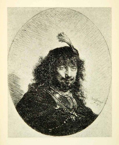 1878-photogravure-rembrandt-self-portrait-dutch-golden-age-art-painter-etcher-original-photogravure