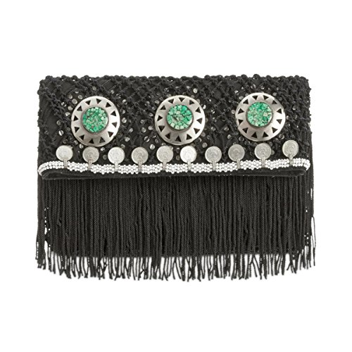 Sam Edelman Women's Lisa Fold-Over Clutch Black Clutch by Sam Edelman