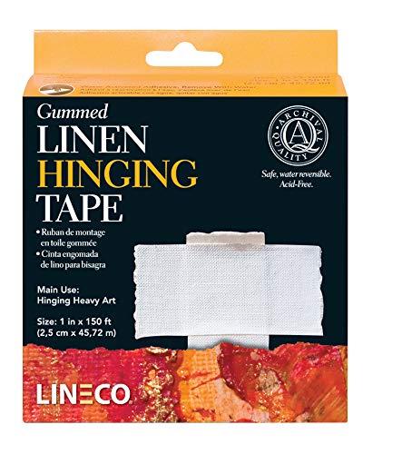 Lineco Acid-Free Gummed Linen Tape 1 in. x 50 yd. roll White Linen Tape