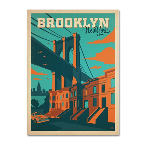 Trademark Fine Art Brooklyn Artwork by Anderson Design Group, 24 by 32-Inch