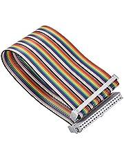 Nimoa Cable GPIO, 40Pin Rainbow Hembra a Hembra Cable Adaptador GPIO para Banana Pi/Raspberry Pi 2/3