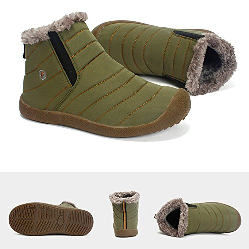 Fourrure En Neige Chaussures Plein Bottes Hommes Vert Bottines Riou Air De Hiver Doubles Travail v0SCZ