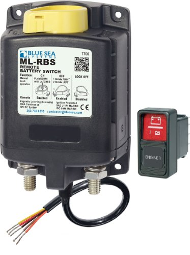 Blue Sea Systems Battery Switch (Blue Sea Systems 7700 ML-Series Remote Battery Switch with Manual Control (12v DC))