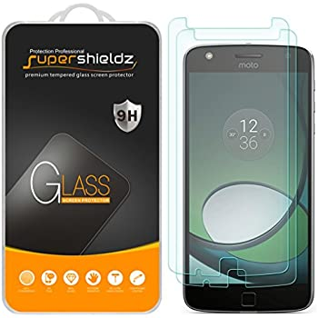 [2-Pack] Supershieldz for Moto Z Play / Moto Z Play Droid Tempered Glass Screen Protector, Anti-Scratch, Anti-Fingerprint, Bubble Free, Lifetime Replacement Warranty