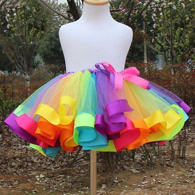 42e96185a3 Image Unavailable. Image not available for. Colour: Girls Colorful Tutu  Skirt ...
