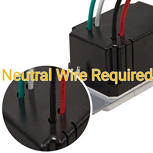 TOPGREENER TDOS5-White Motion Sensor Light Switch, PIR Sensor Switch, Occupancy Sensor Light Switch, Motion Sensor Wall Switch, 500W 1/8HP, Neutral Wire Required, Single Pole, White by TOPGREENER (Image #3)