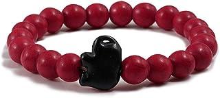 KYDE&V Pietra Bead Buddha Bracciale per Le Donne Elephant Charm Vintage Elasticity Yoga Bangles Jewelry