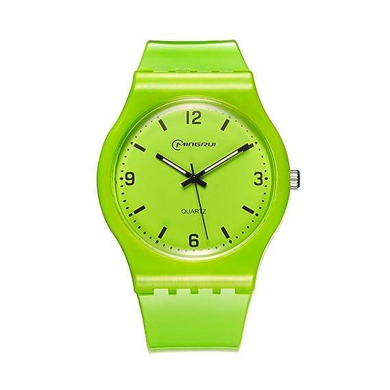 Señoras Reloj de cuarzo,30m impermeable Disco Reloj casual Cuarzo Junior Niña Parejas Reloj de