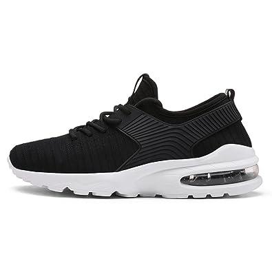 12e8c2ed7b114e TORISKY Herren Damen Sportschuhe Laufschuhe mit Luftpolster Leichtathletik  Turnschuhe Air Schuhe Sneaker (A07-Black39