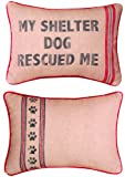 Manual Dog to the Rescue Printed Pillow, Shelter Dog, 13 X 18-Inch