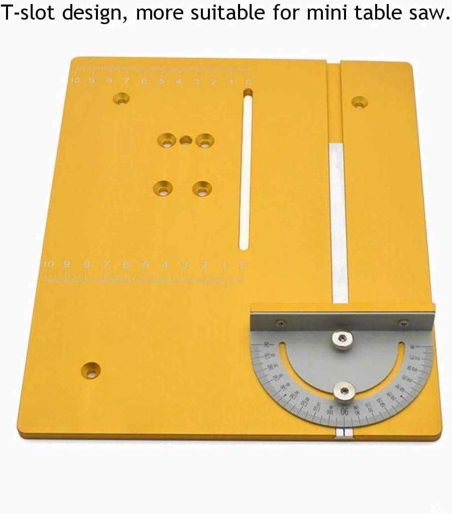 Zimmermann Winkelmesser DIY Holzbearbeitungsmaschinen Winkel Lineal Mini-Tischkreiss/ägen Router Gehrungsfugenlehre