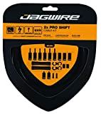 Jagwire – Universal 2X Pro Shift Kit  for Road, MTN, and Gravel Bike   SRAM and Shimano Shifter Compatible, Polished Stainless Cables, 10 Color Options