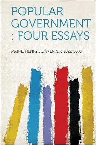Book Popular Government: Four Essays