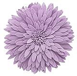 Fennco Styles 3D Sunflower Decorative Throw Pillow 13'' Round (Violet, Case+Insert)