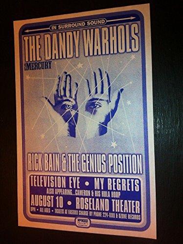 Dandy Warhols Rick Bain Rare Origibal Roseland Theater Concert Tour Gig Poster from ConcertPosterArt