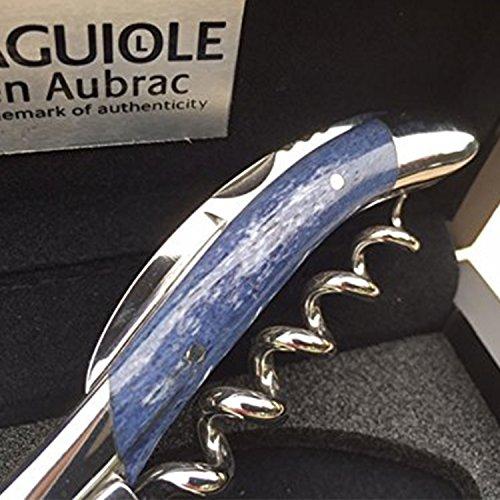 Laguiole en Aubrac Sommelier Corkscrew SOM99O5I Camel Bone Handle, Navy Blue
