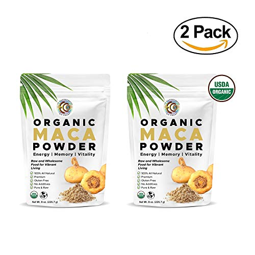 Earth Circle Organics - Organic Maca Root Powder, Natural Superfood, Helps with Energy, Hormone, Weight and Women's Fertility (2 Pack) (Coconut Circle Oil Earth Organics)