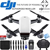 DJI Spark Alpine White Quadcopter Drone 32GB Essentials Bundle Spark Drone Essentials Bundle (DJI Spark Drone Essentials Bundle)
