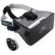 XCSOURCE VR Casque de Virtuelle Réalité 3D VR Lunettes Virtuelle Réalité+ Bluetooth Contrôle de jeu pour iPhone 6 Plus/6/5/5S/4S Samsung Galaxy S3 S4 S5 S6 Edge Sony Xperia Z1 Z2 Z3 Z4 Compact LG Nexus 4 5 HTC One M7 M8 M9 AC261