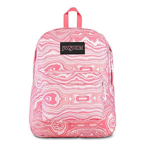 - JanSport Black Label Superbreak Backpack - Lightweight School Bag | Pink Geode Load Print