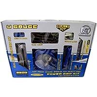 BULLZ AUDIO 4 Gauge Car Amplifier Amp Installation Power Wiring Kit | SPAK4BL