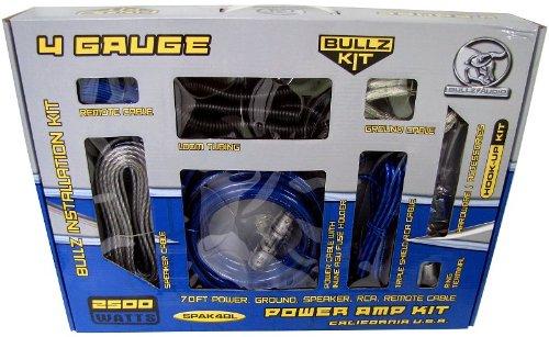 amazon com bullz audio 4 gauge car amplifier amp installation amazon com bullz audio 4 gauge car amplifier amp installation power wiring kit spak4bl car electronics