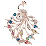 Hosaire Brooch Pin Women's Peacock Color Rhinestones Breastpin for Wedding/Banquet/Bouquet