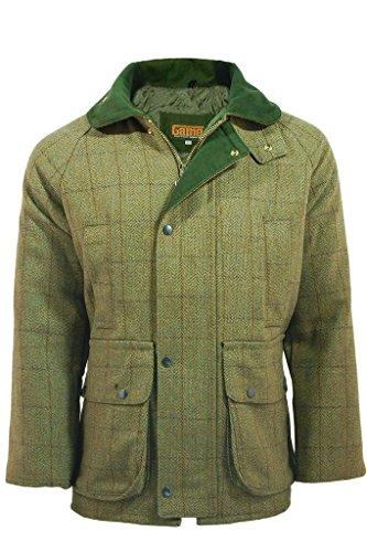 Mens Derby Tweed Shooting Hunting Jacket 3X-Large Sage (Jacket Wool Tweed)