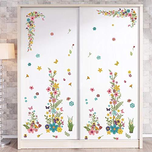 Euone Removable Vinyl Decal Art Mural Flower Vine Home Living Room Decor Wall Sticker