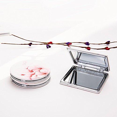 Motivo a Foglie Colorate Size 7cm Fablcrew Specchio Portatile di Trucco Specchio Design Carino 7cm