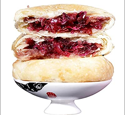 Yunnan specialty: 6 pcs rose flower pastry for your office snack 8.5oz