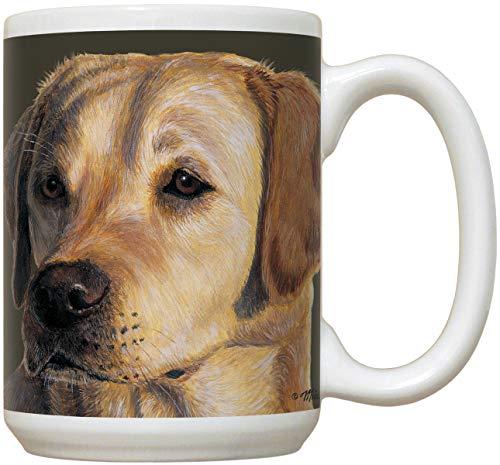 Yellow Lab Ceramic Mug | 15 oz Large Sized Coffee Mug | Great Gift for Yellow Lab Lovers