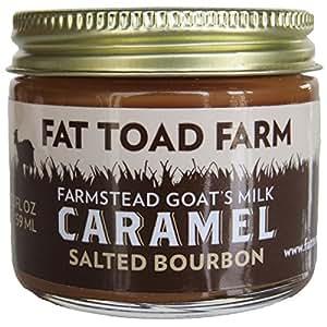 Fat Toad Farm Goat's Milk Salted Bourbon Caramel, 2 oz Gluten Free