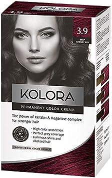AROMA Tinte para cabello 3.9 Kolora Deep Cherry Red 60 ml1 Unidades