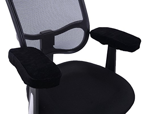 comforfeel memory foam office chair arm covers comfortable elbow pillow chair arm rest. Black Bedroom Furniture Sets. Home Design Ideas