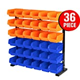 HORUSDY 36 - Parts Bin storage / Wall Mounted Tools Storage Solution Rack Nuts Bolts Organiser Parts