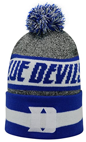 "Duke Blue Devils NCAA Top of the World ""Cumulus"" Striped Cuffed Knit Hat"