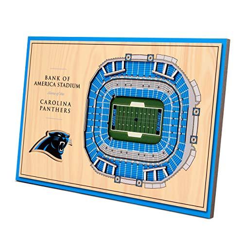 YouTheFan NFL Carolina Panthers Unisex Carolina PanthersDesktop Stadium View, Wood Grain, Desktop