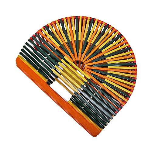 Mano Canna Portatile Coordinato Borsa Rattan Cavità Moda E Lbymyb Bambù A Di Color In XCO4q