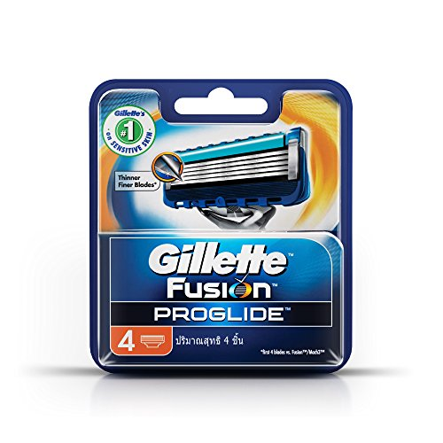 Gillette Fusion ProGlide Manual Men's Razor Blade Refills, 4 Count, Mens Razors / Blades