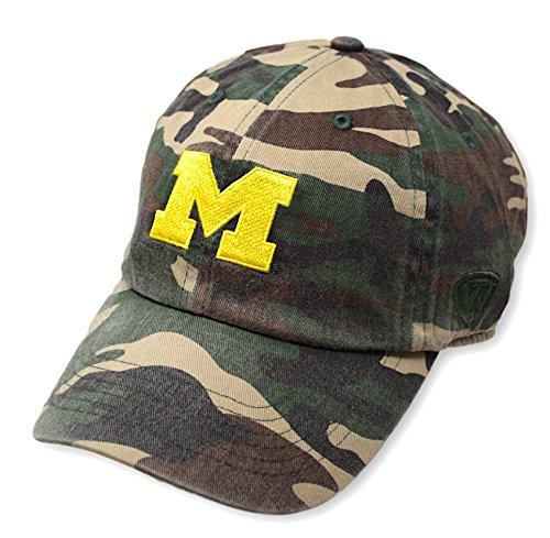 Top of the World Michigan Wolverines Men's Camo Hat Icon, Camo, Adjustable (Michigan Camo Hat)