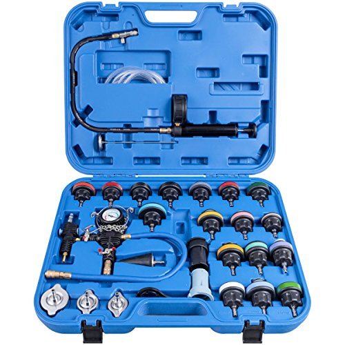 r Pressure Tester Vacuum Type Cooling System Purge and Refill Kit W/Case ()