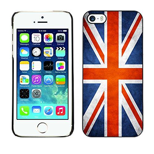 Omega Case PC Polycarbonate Cas Coque Drapeau - Apple iPhone 5 / 5S ( Great Britain UK Union Jack Grunge Flag )